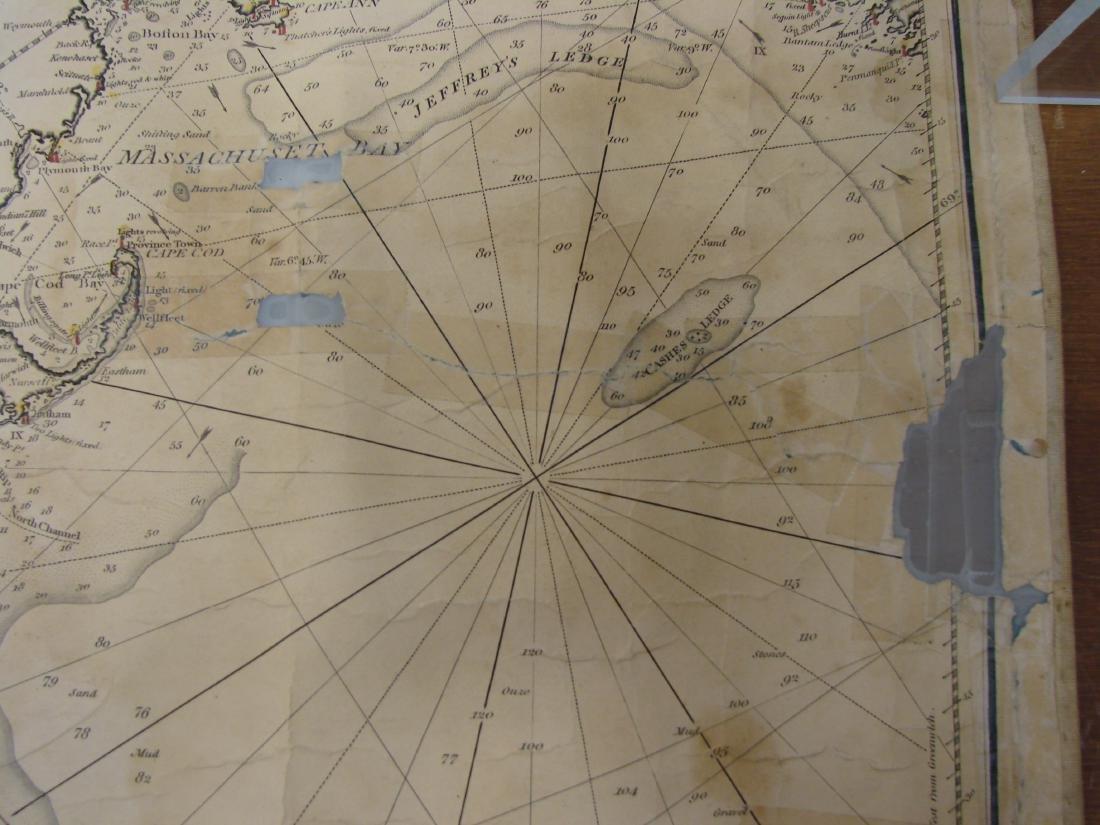 MARINER'S CHART SAVANNAH TO BOSTON - NORIE, 1836 - 4