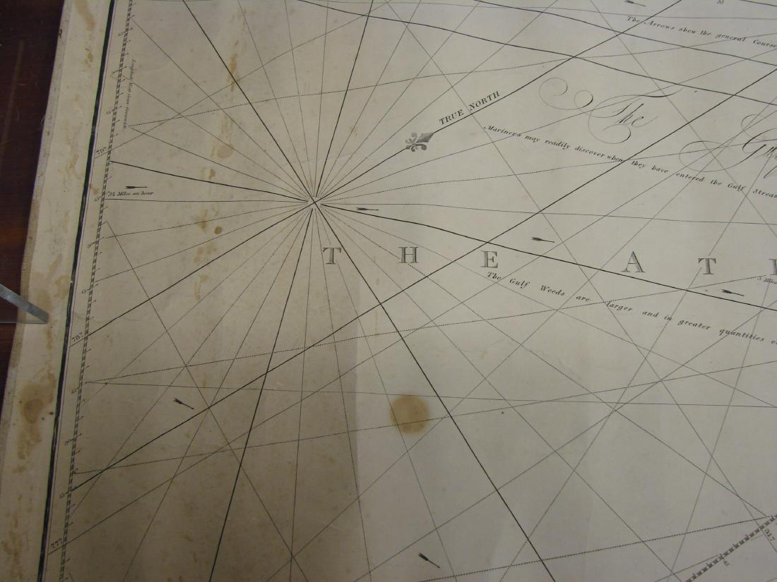 MARINER'S CHART SAVANNAH TO BOSTON - NORIE, 1836 - 5
