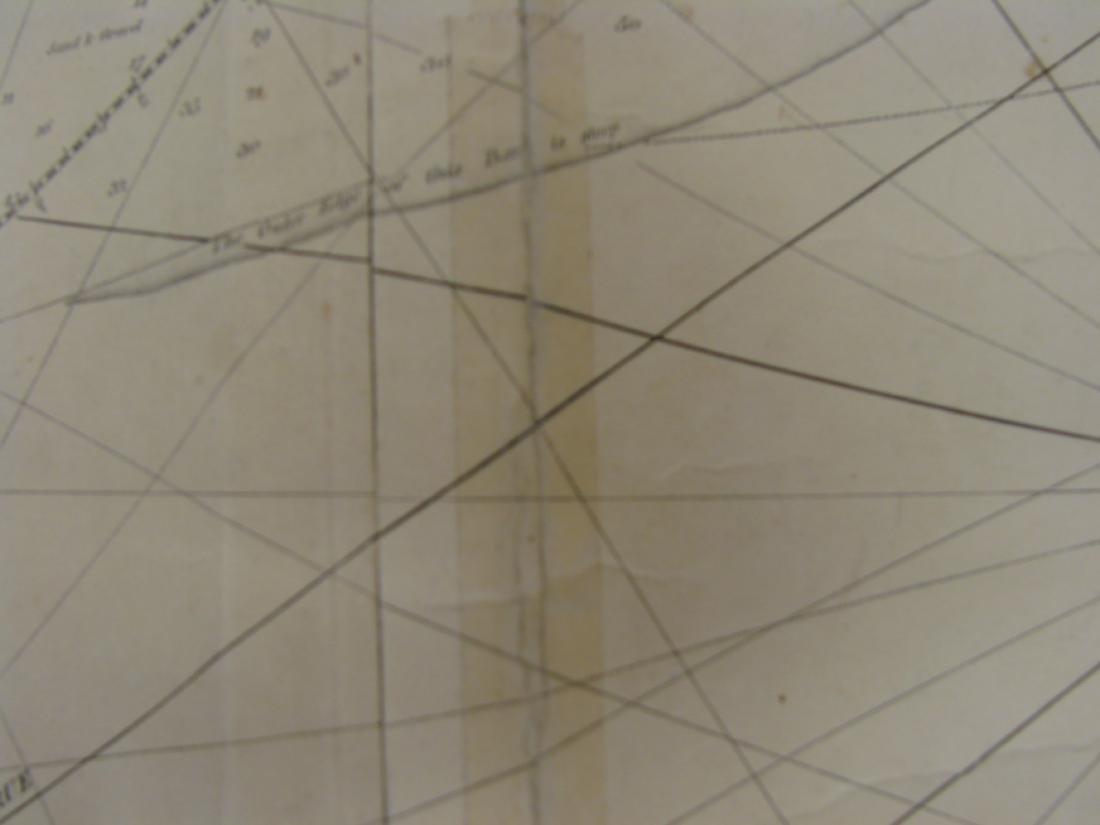 MARINER'S CHART SAVANNAH TO BOSTON - NORIE, 1836 - 6