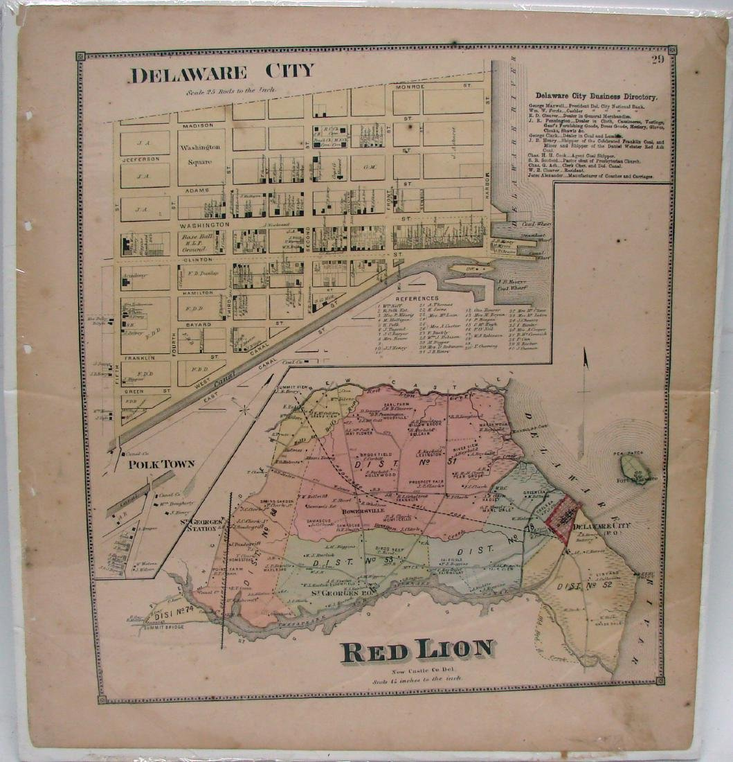 (3) DOUBLE-SIDED NEW JERSEY MAPS, (1) DELAWARE MAP