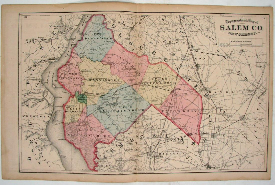 (3) DOUBLE-SIDED NEW JERSEY MAPS, (1) DELAWARE MAP - 2
