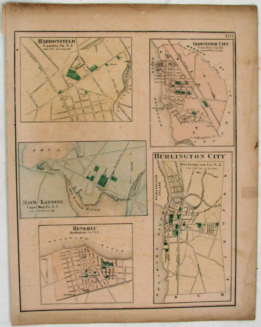 (3) DOUBLE-SIDED NEW JERSEY MAPS, (1) DELAWARE MAP - 3