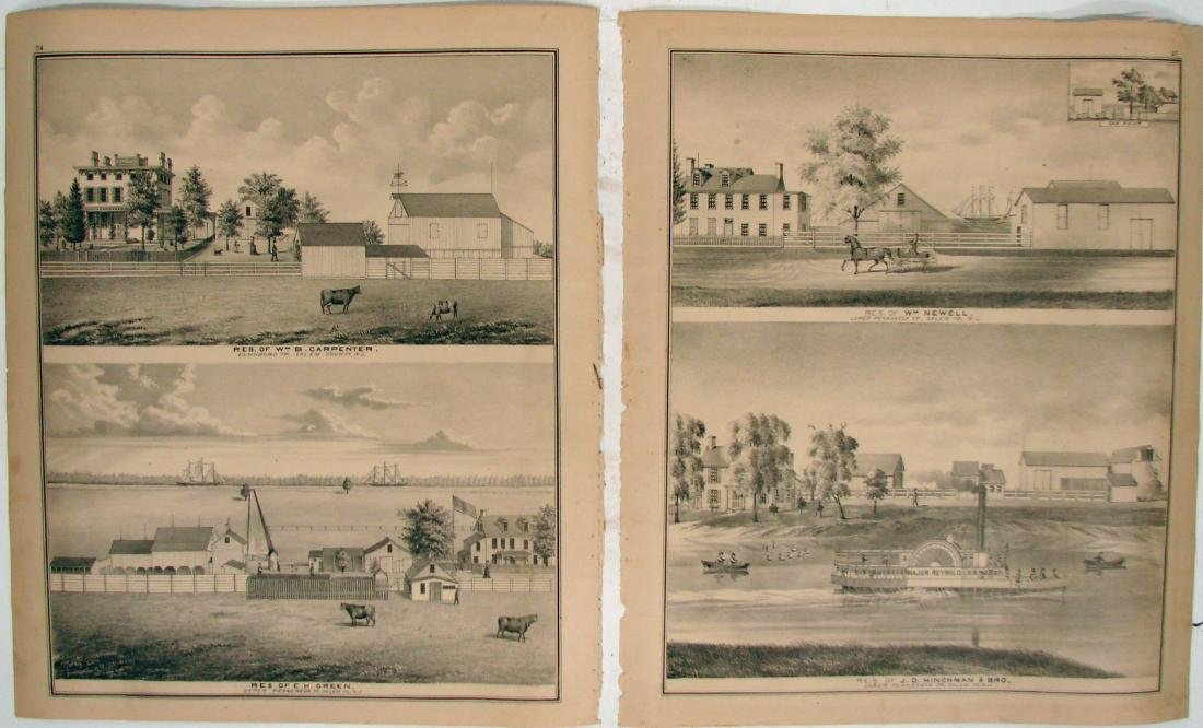 (3) DOUBLE-SIDED NEW JERSEY MAPS, (1) DELAWARE MAP - 4