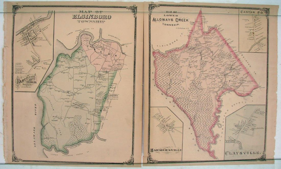 (3) DOUBLE-SIDED NEW JERSEY MAPS, (1) DELAWARE MAP - 5