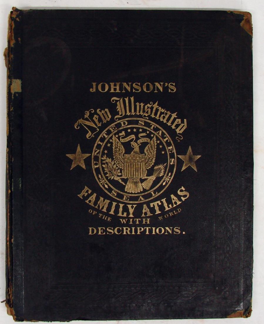 JOHNSON'S NEW ILLUSTRATED FAMILY ATLAS