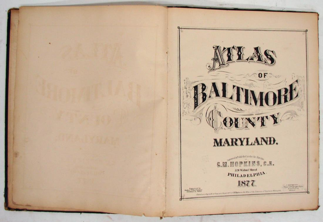 C. M. HOPKINS ATLAS OF BALTIMORE and BALTIMORE COUNTY - 2