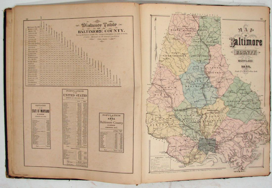 C. M. HOPKINS ATLAS OF BALTIMORE and BALTIMORE COUNTY - 3