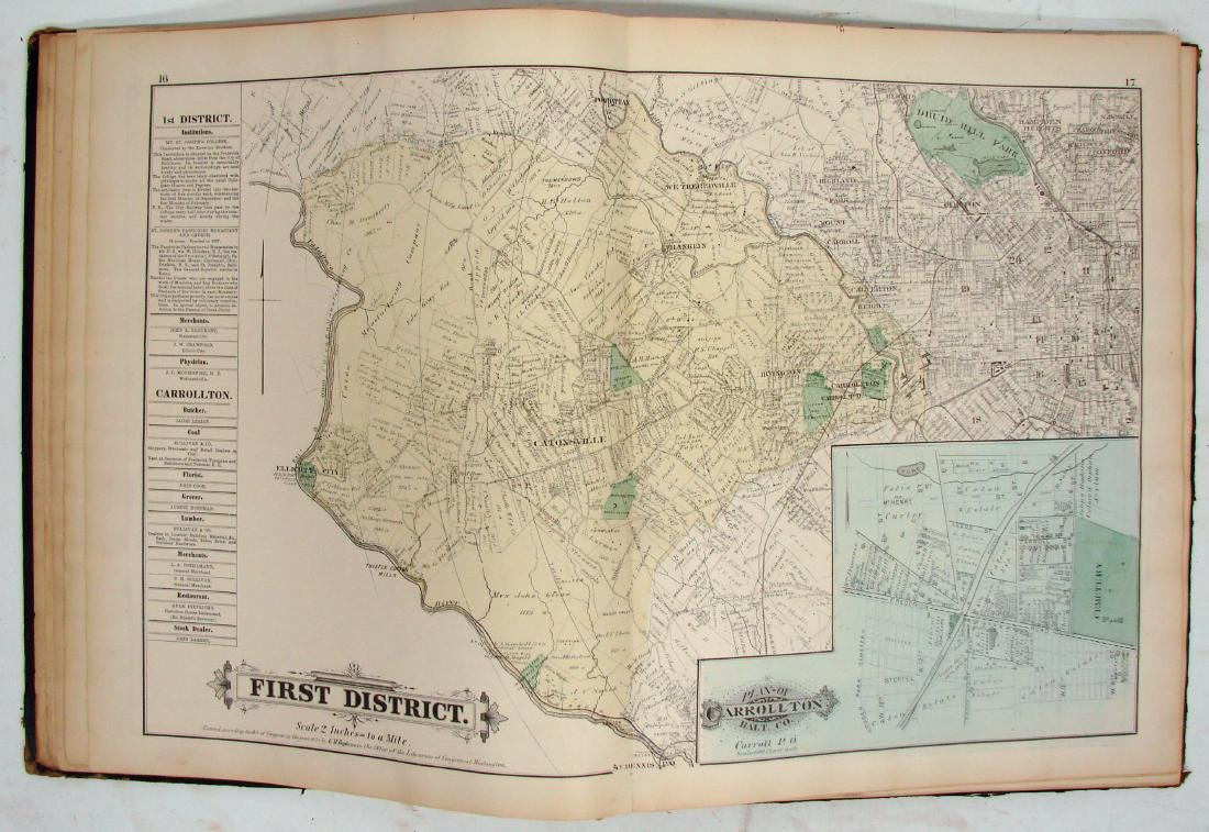 C. M. HOPKINS ATLAS OF BALTIMORE and BALTIMORE COUNTY - 4