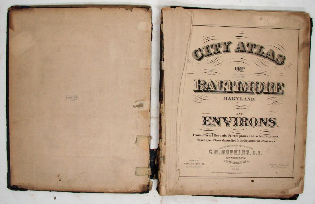 C. M. HOPKINS ATLAS OF BALTIMORE and BALTIMORE COUNTY - 8