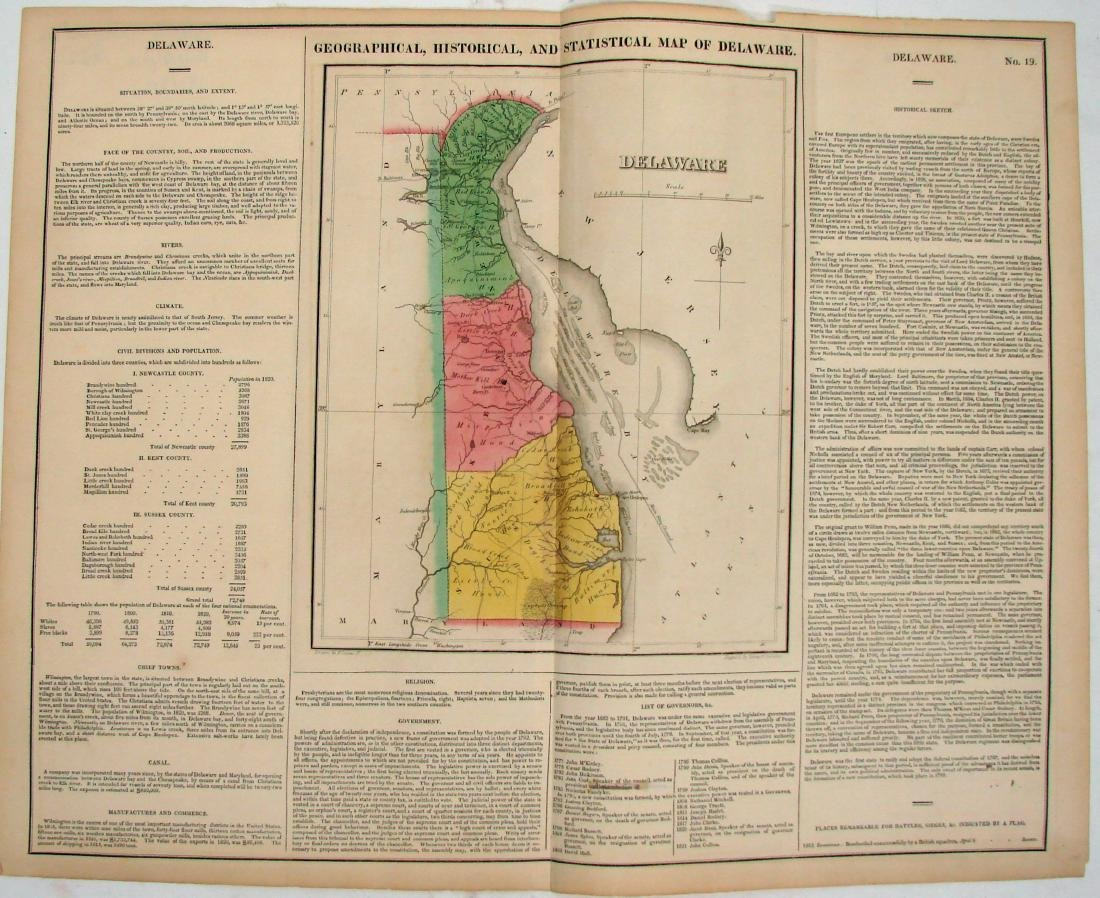 (2) EARLY 1800'S MAPS OF DELAWARE
