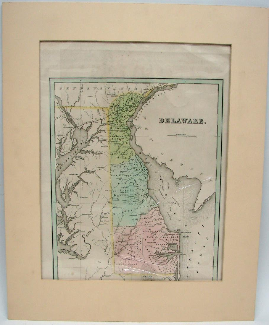 (2) EARLY 1800'S MAPS OF DELAWARE - 2
