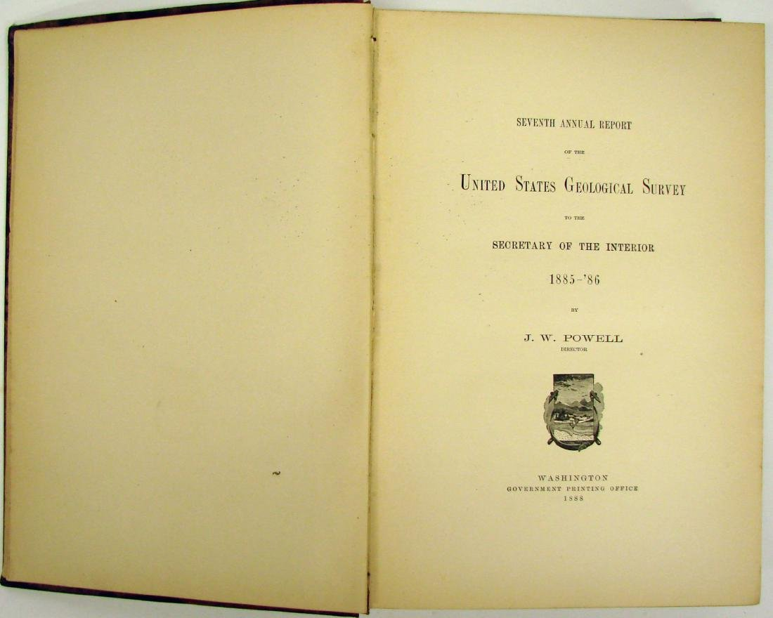 7TH ANNUAL US GEOLOGICAL SURVEY 1885-86 - 2