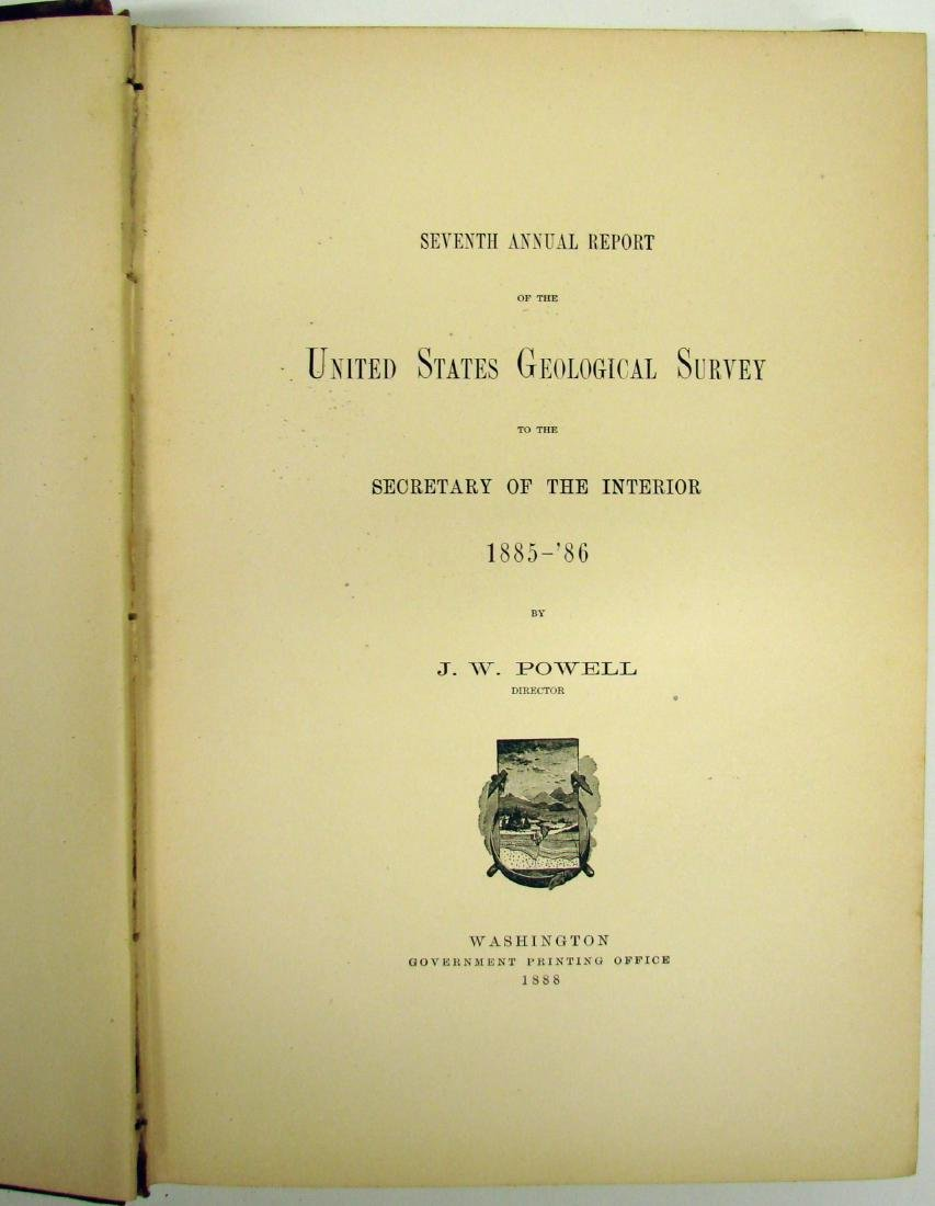 7TH ANNUAL US GEOLOGICAL SURVEY 1885-86 - 3