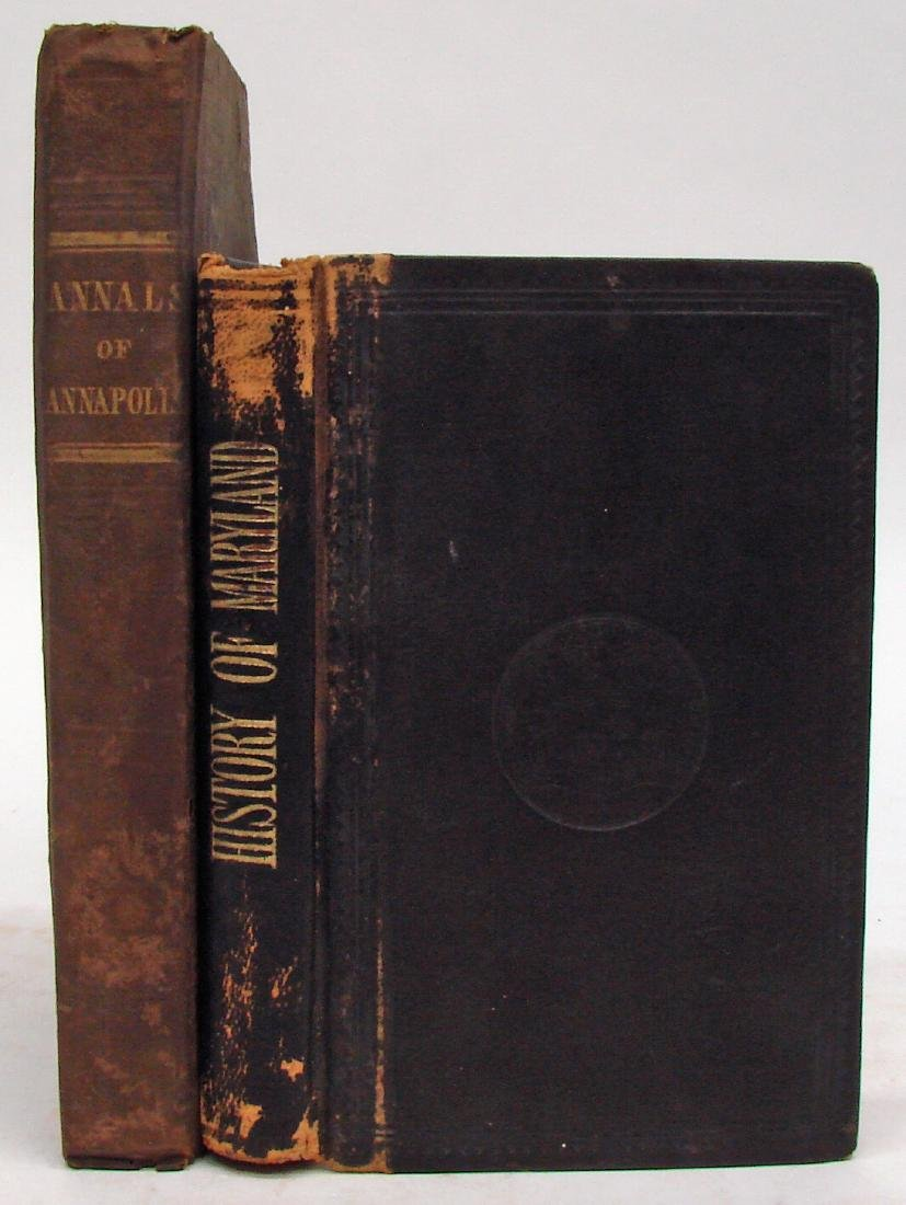 (2) LATE 19TH CENTURY MARYLAND BOOKS