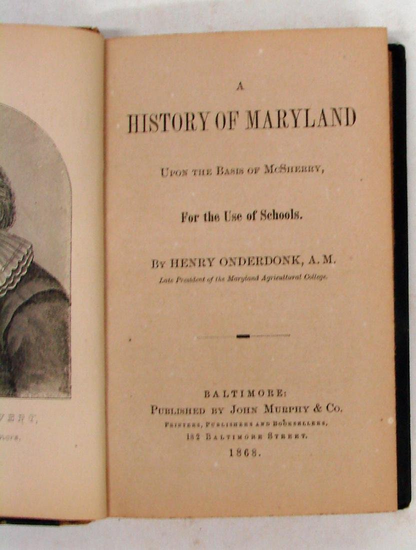 (2) LATE 19TH CENTURY MARYLAND BOOKS - 3