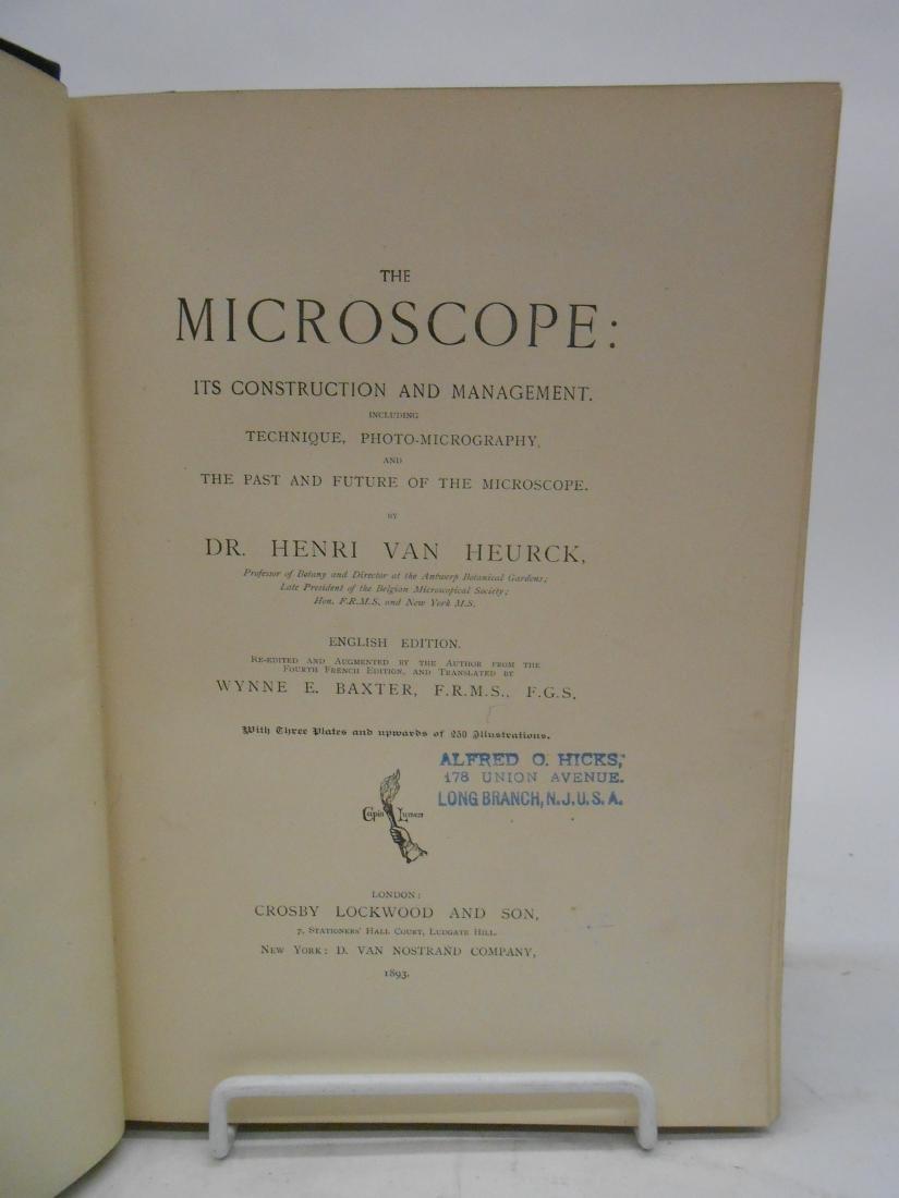 "VAN HEURCK ""THE MICROSCOPE CONSTRUCTION MANAGEMENT"" - 2"