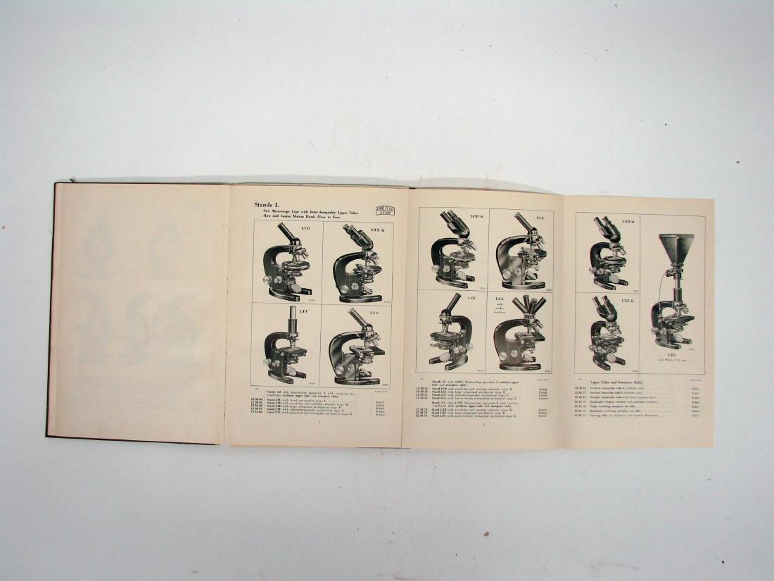 (3) ZEISS MICROSCOPE CATALOGS - 1934 & 1927 - 10