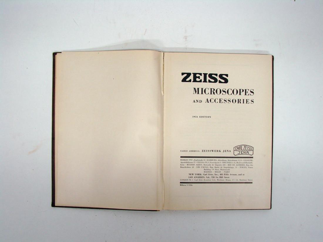 (3) ZEISS MICROSCOPE CATALOGS - 1934 & 1927 - 3