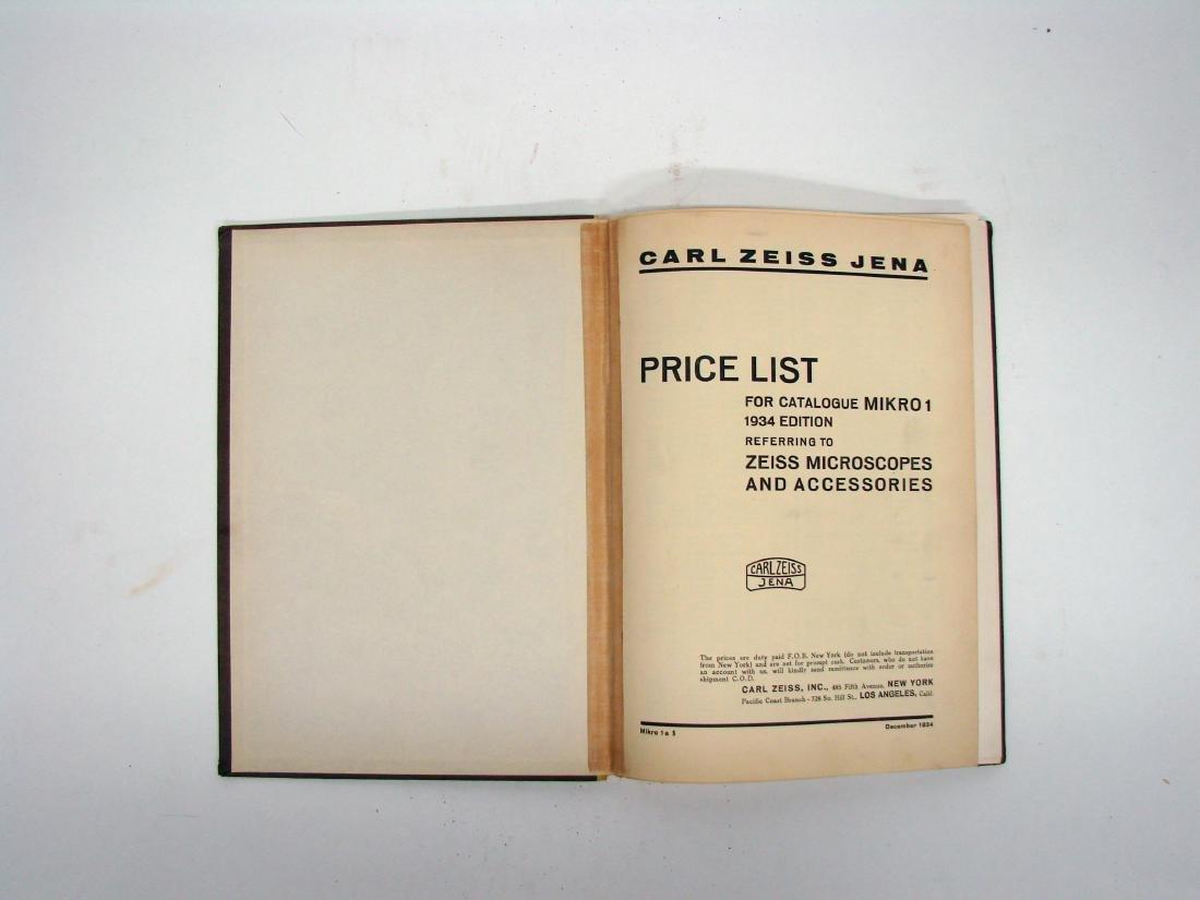 (3) ZEISS MICROSCOPE CATALOGS - 1934 & 1927 - 4