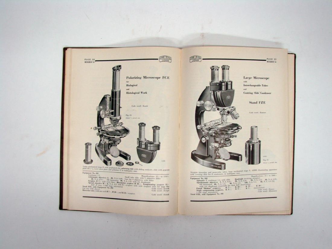 (3) ZEISS MICROSCOPE CATALOGS - 1934 & 1927 - 6