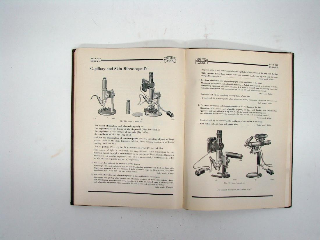 (3) ZEISS MICROSCOPE CATALOGS - 1934 & 1927 - 7