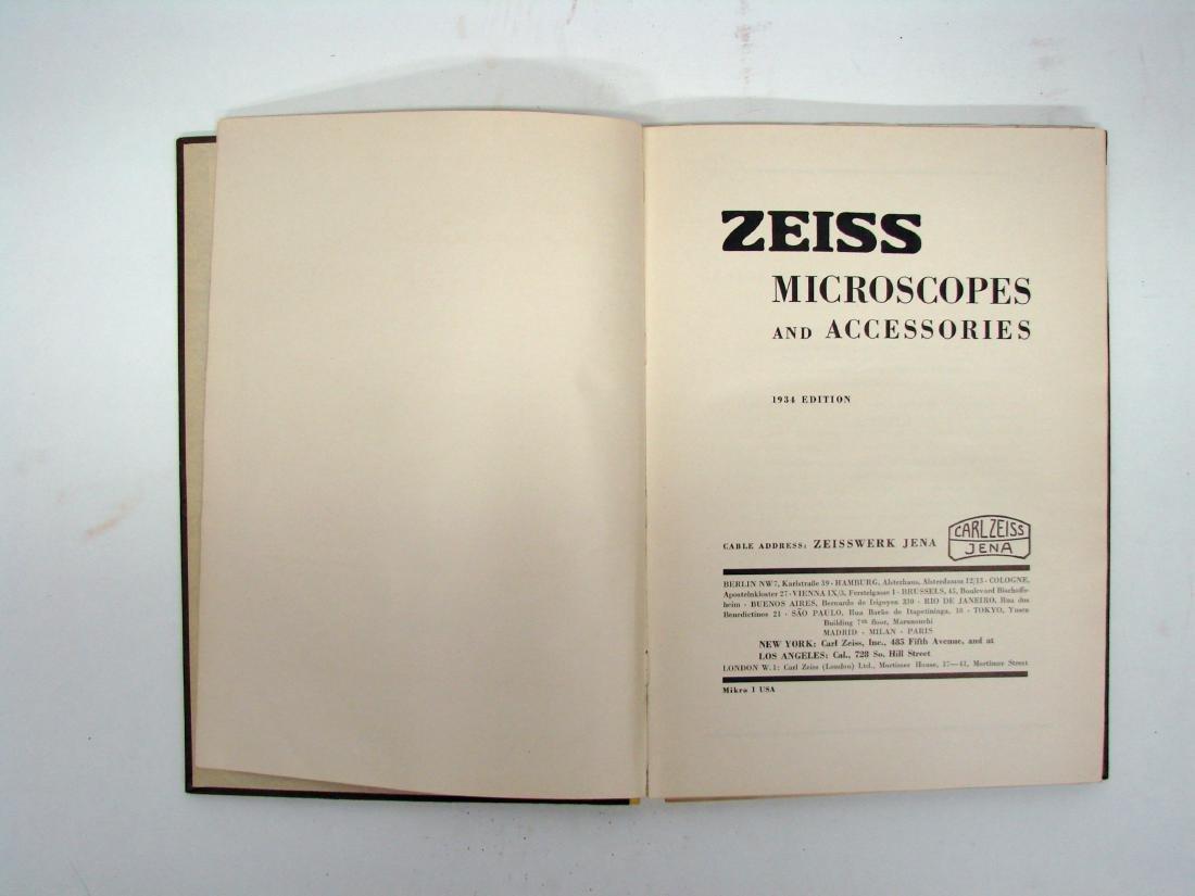 (3) ZEISS MICROSCOPE CATALOGS - 1934 & 1927 - 8