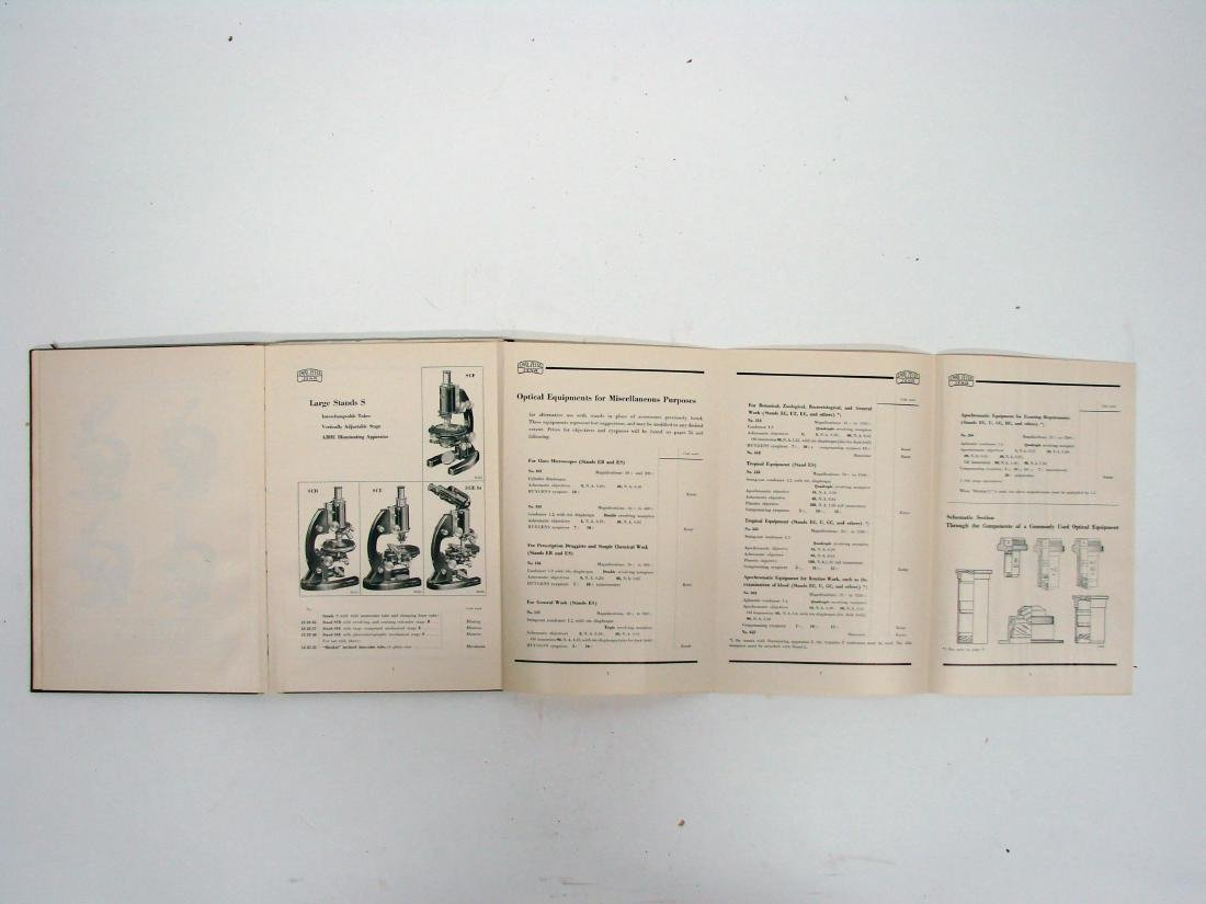 (3) ZEISS MICROSCOPE CATALOGS - 1934 & 1927 - 9