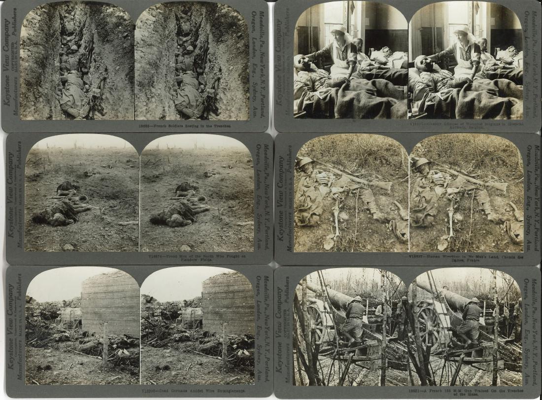 "CASED SET KEYSTONE VIEWS ""WORLD WAR THROUGH THE"