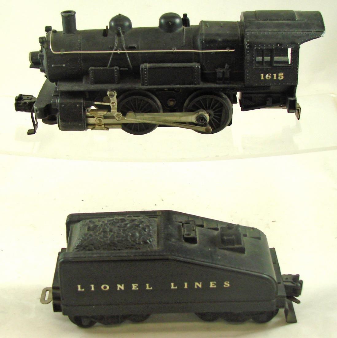LIONEL 1615 STEAM ENGINE 0-4-0 & 1615T TENDER