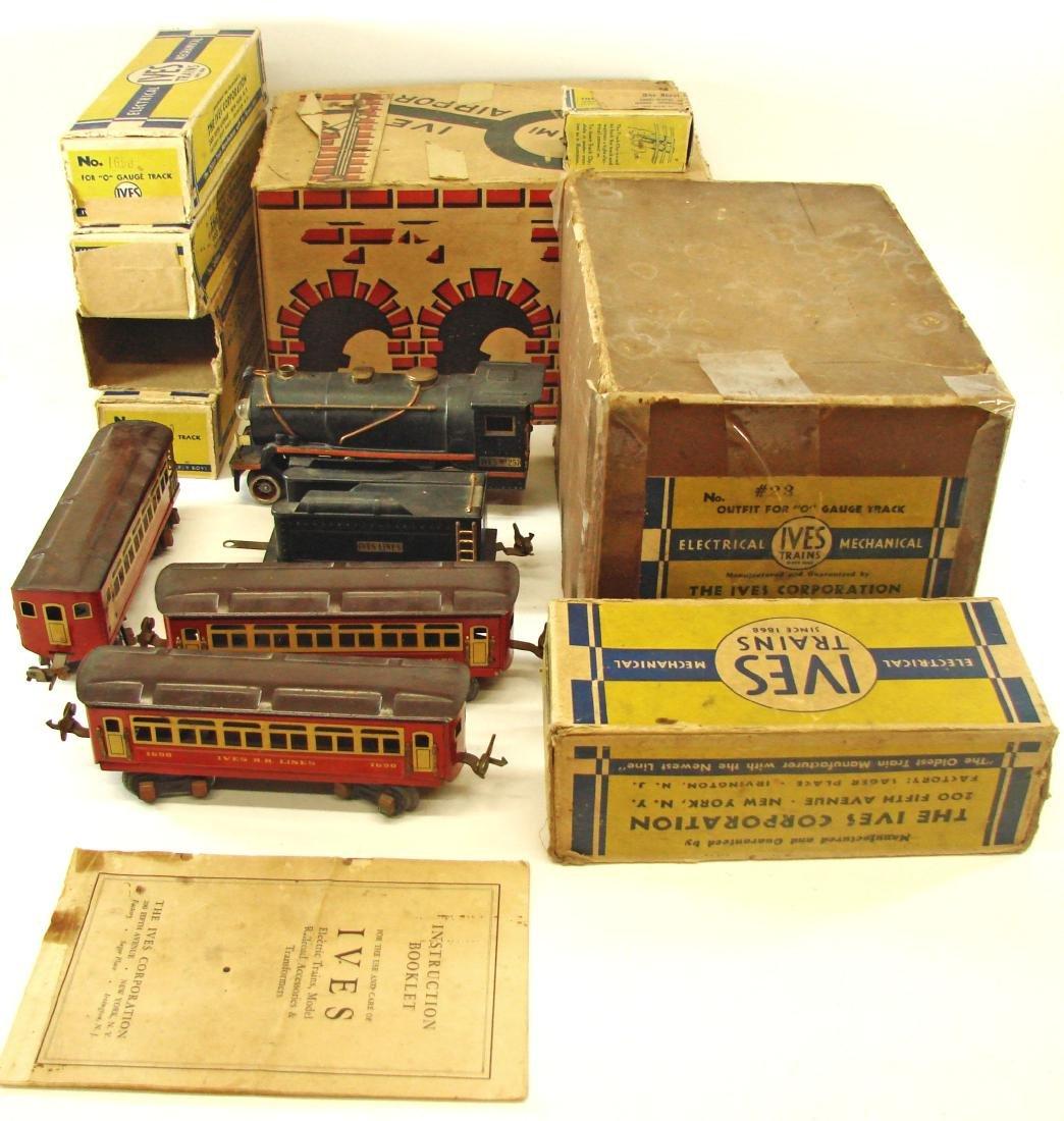 "(5) PIECE 1931 ""O"" GAUGE IVES TRAIN SET"
