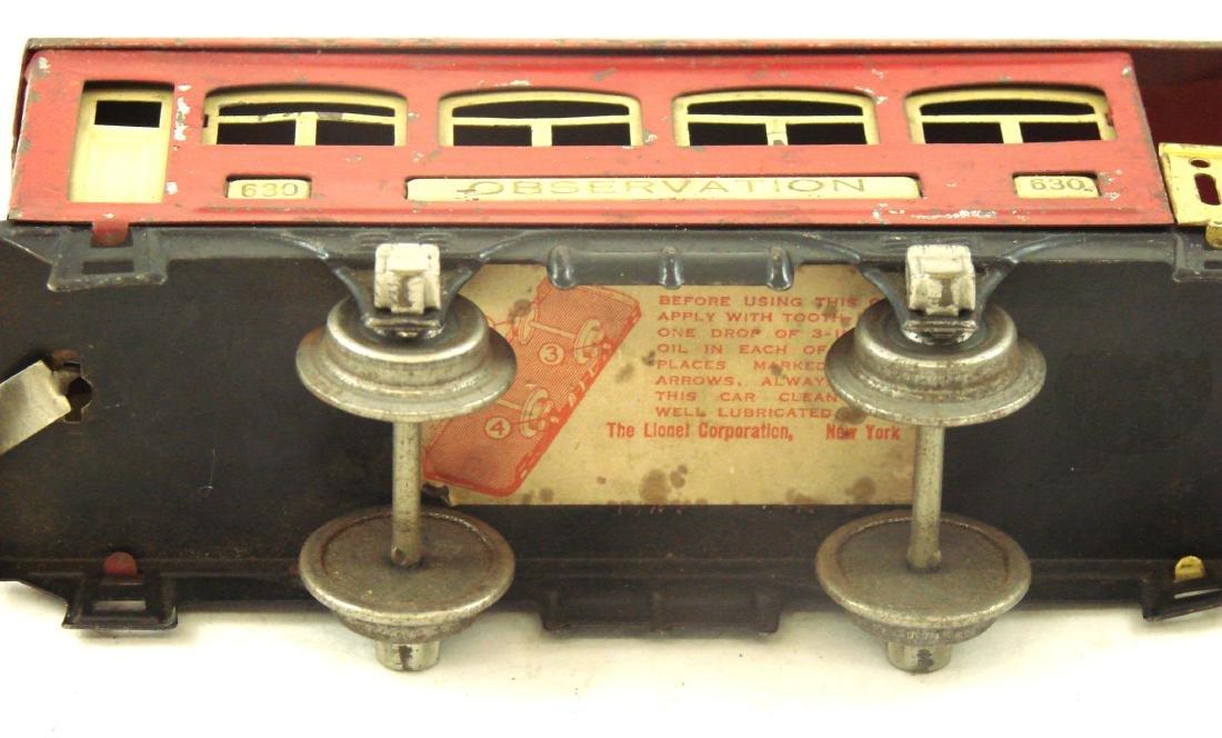 (6) PIECE LIONEL TRAIN SET - O GAUGE - 10