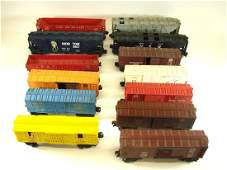 (13) LIONEL ROLLING STOCK CARS