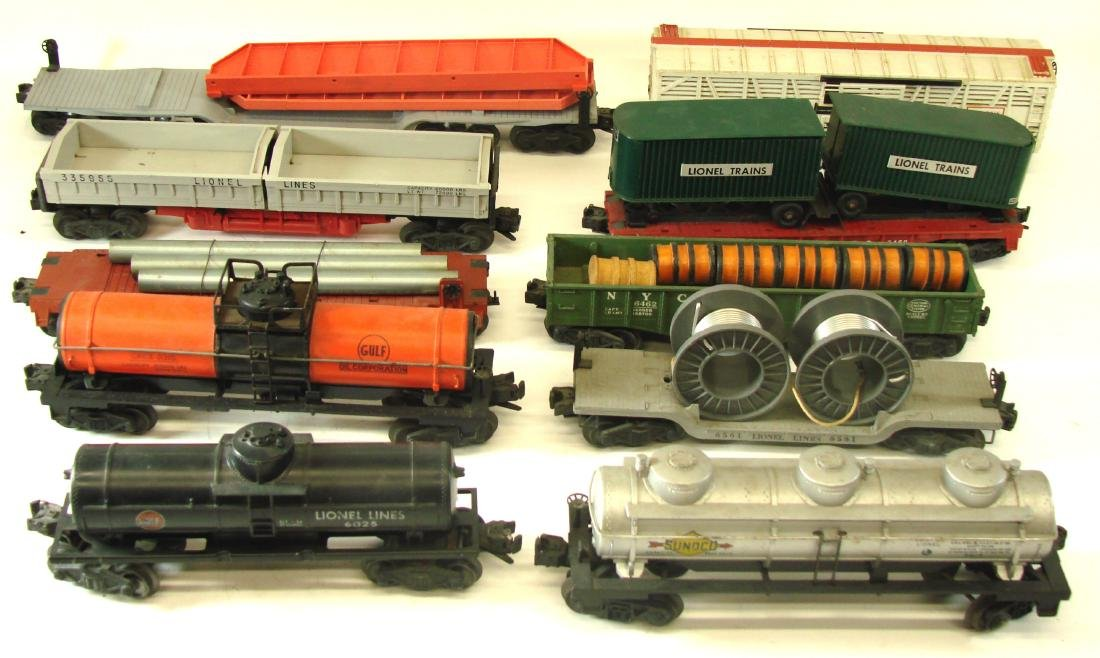 (10) LIONEL ROLLING STOCK CARS