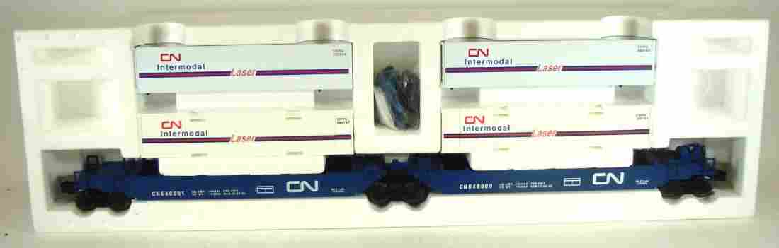 LIONEL CANADIAN NATIONAL MAX-STACK FLAT CAR