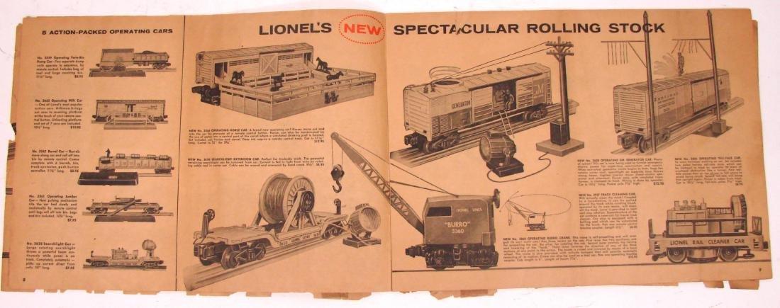 (9) 1950's LIONEL  & AMERICAN FLYER TRAIN CATALOGS & - 3