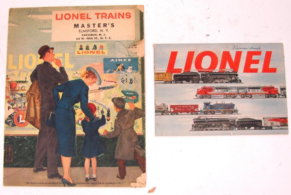(9) 1950's LIONEL  & AMERICAN FLYER TRAIN CATALOGS & - 5