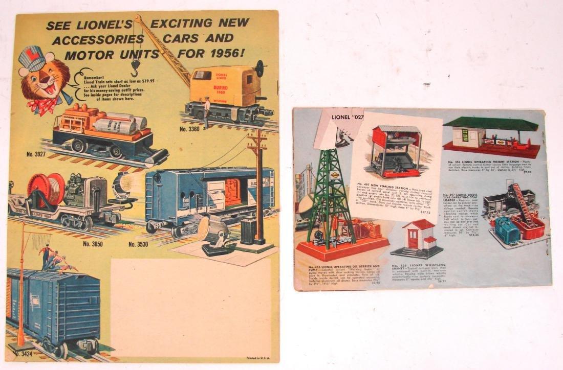 (9) 1950's LIONEL  & AMERICAN FLYER TRAIN CATALOGS & - 6