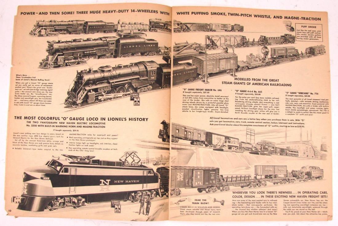 (9) 1950's LIONEL  & AMERICAN FLYER TRAIN CATALOGS & - 7
