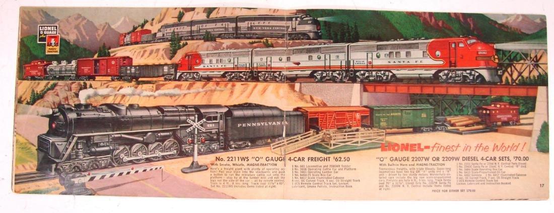 (9) 1950's LIONEL  & AMERICAN FLYER TRAIN CATALOGS & - 8