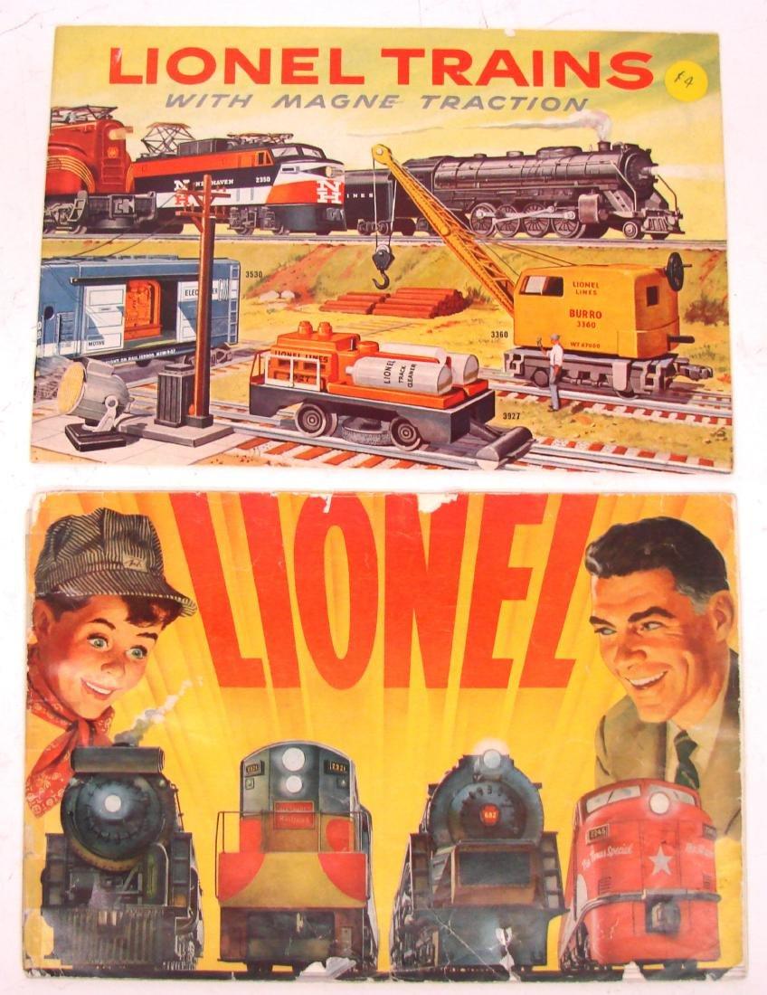 (9) 1950's LIONEL  & AMERICAN FLYER TRAIN CATALOGS & - 9