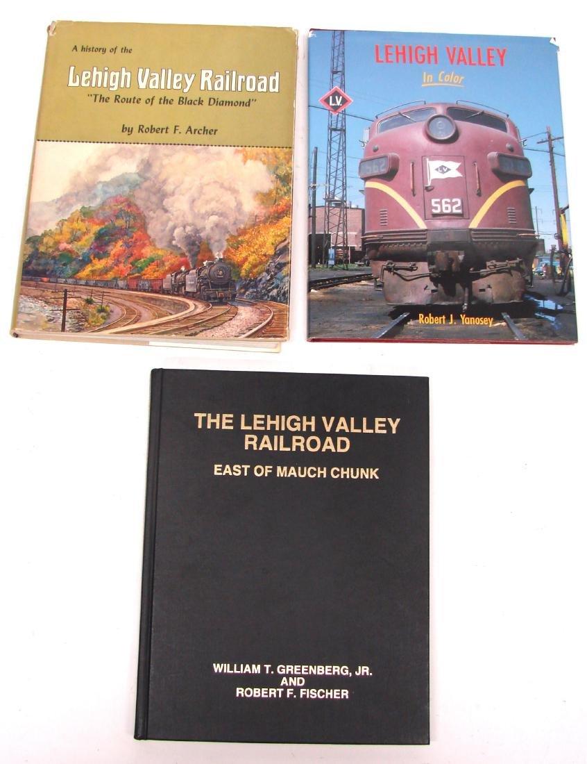 (3) LEHIGH VALLEY RAILROAD BOOKS