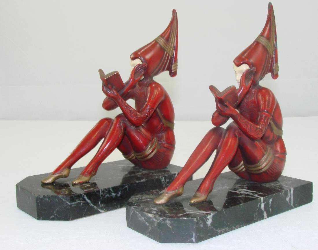 FIGURAL ART DECO BOOKENDS