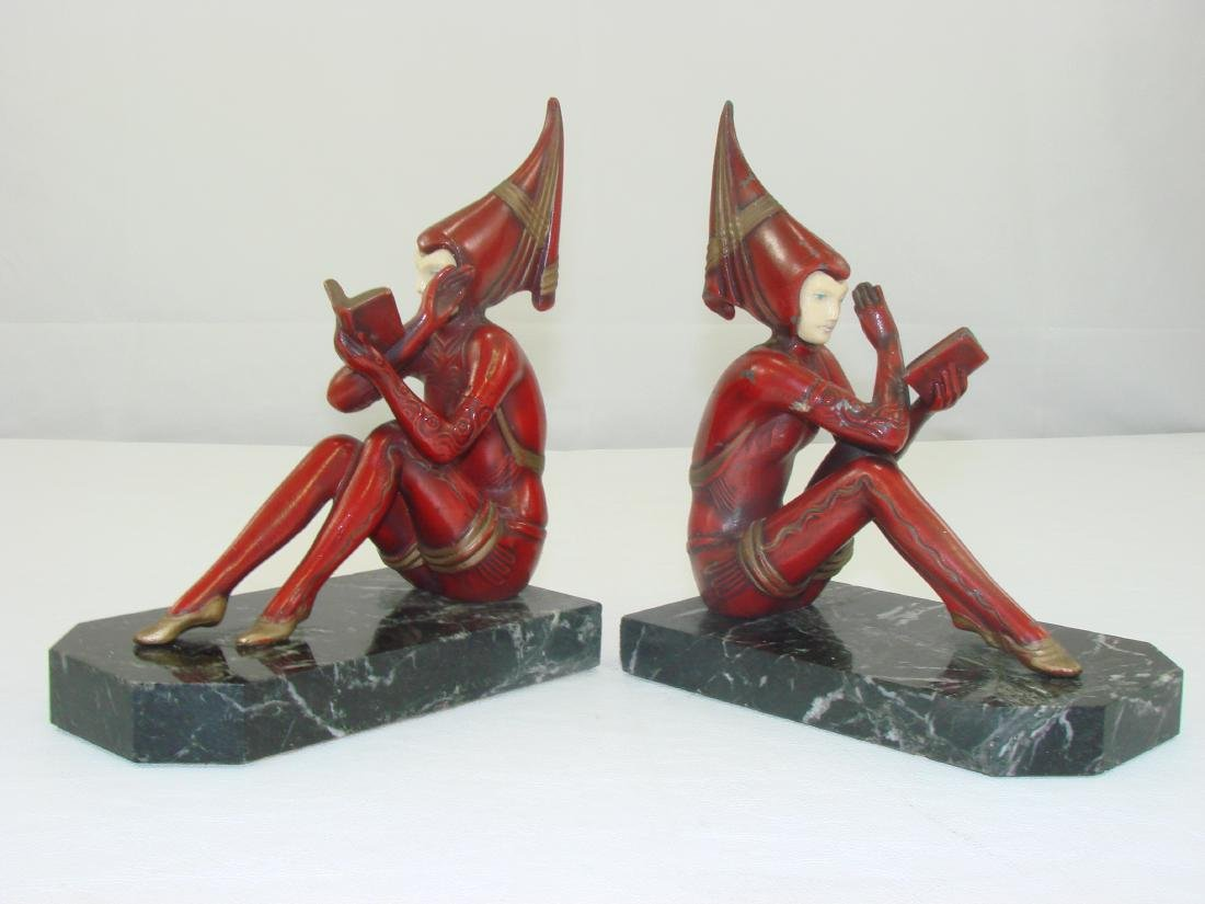 FIGURAL ART DECO BOOKENDS - 2