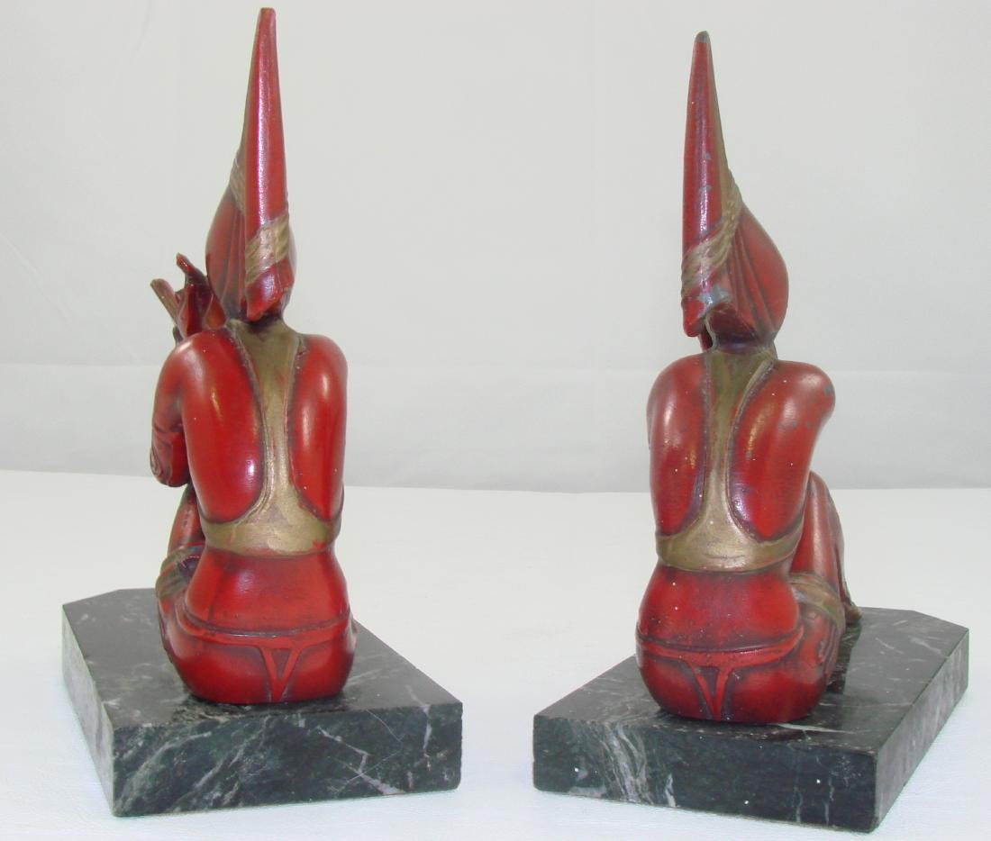 FIGURAL ART DECO BOOKENDS - 3