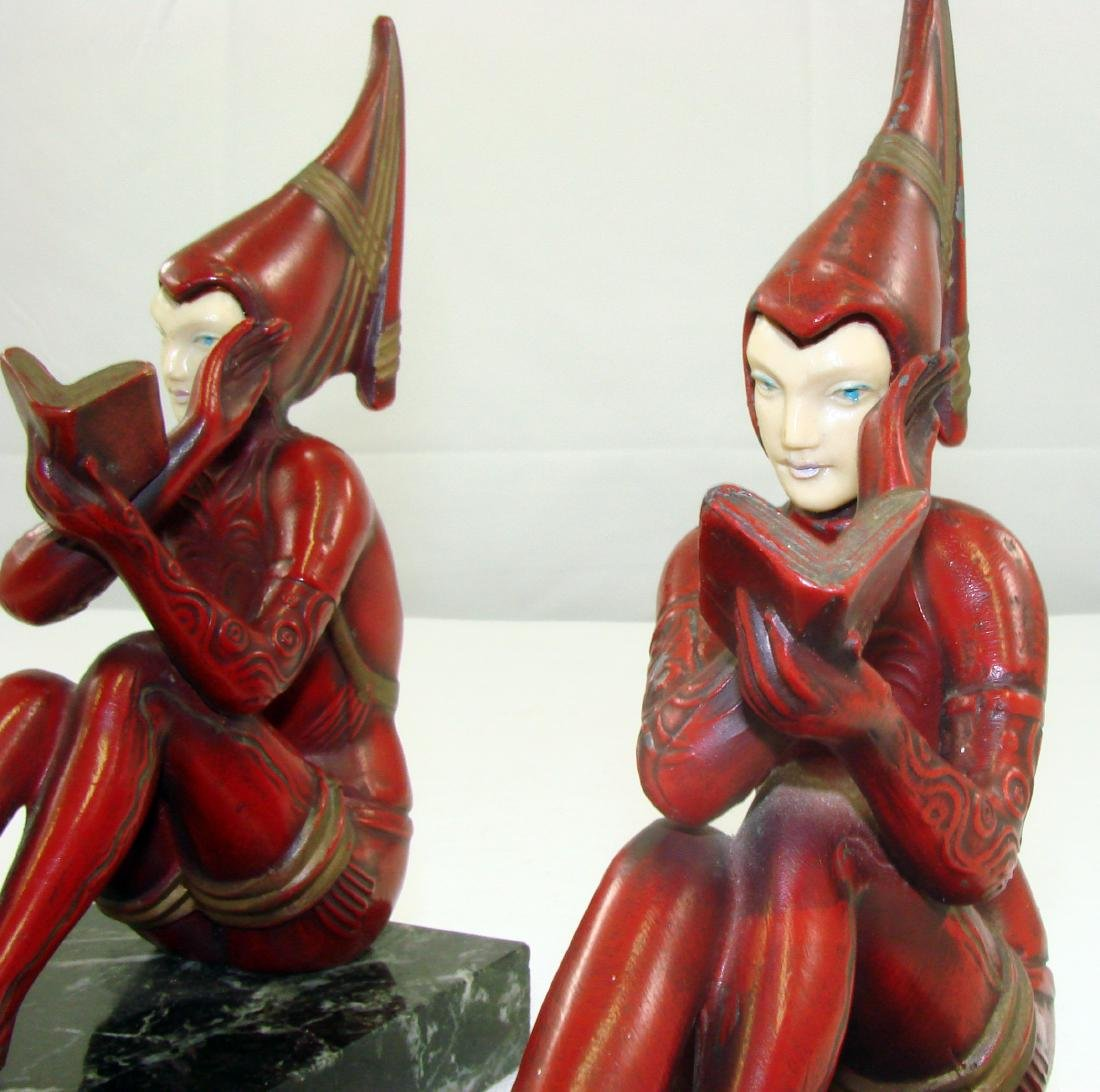 FIGURAL ART DECO BOOKENDS - 5