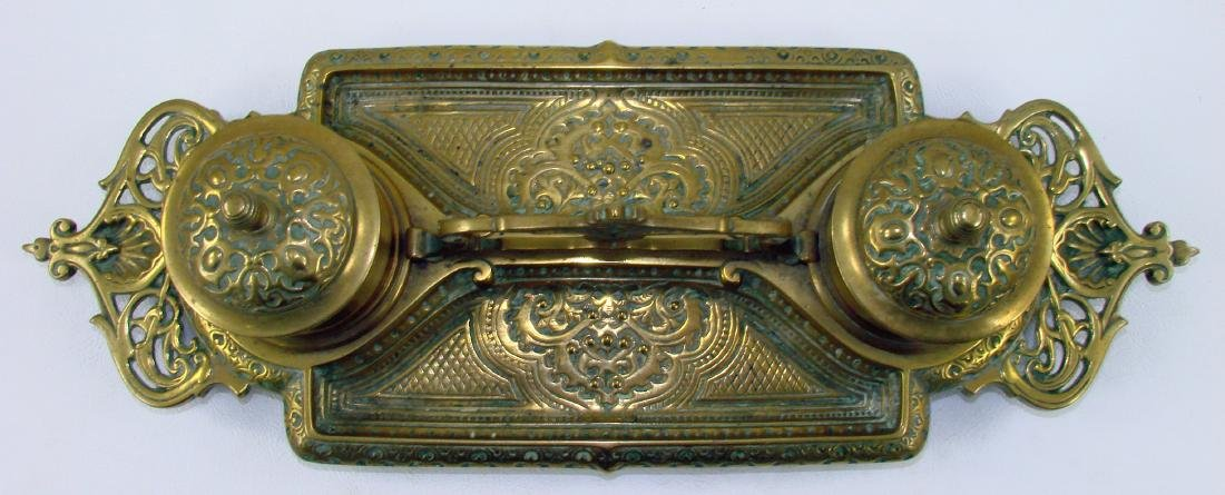 BRASS INKWELL WITH HANDLE - 3