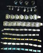 12 PIECES VINTAGE SIAM STERLING JEWELRY