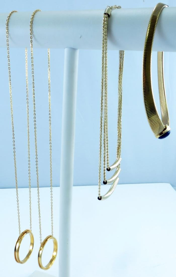 (4) GOLD TONE NECKLACES
