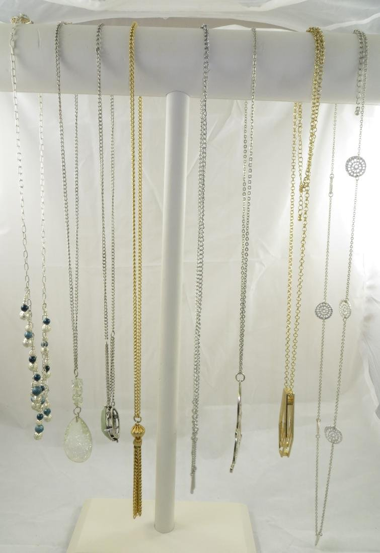 (8) COSTUME NECKLACES