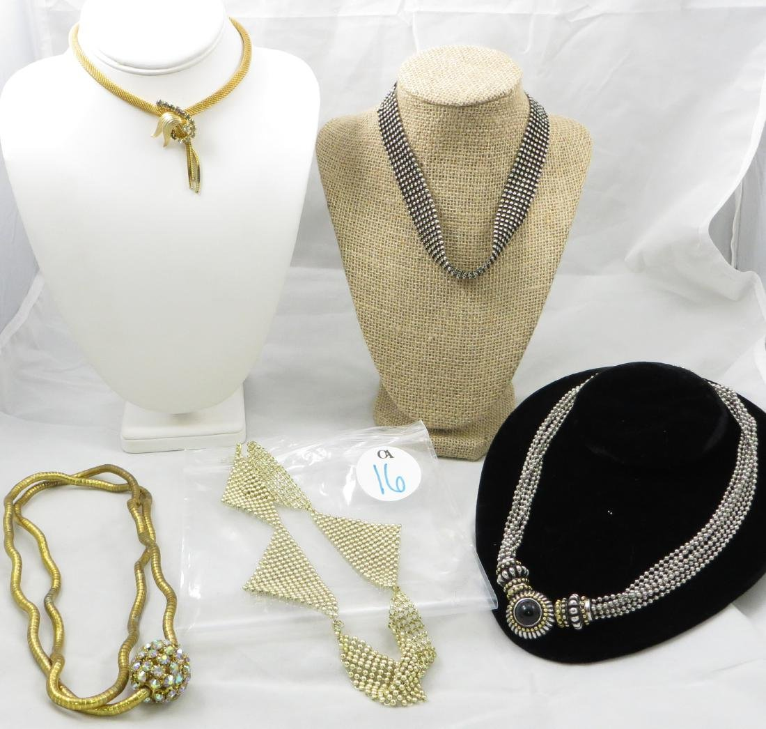 (5) COSTUME NECKLACES